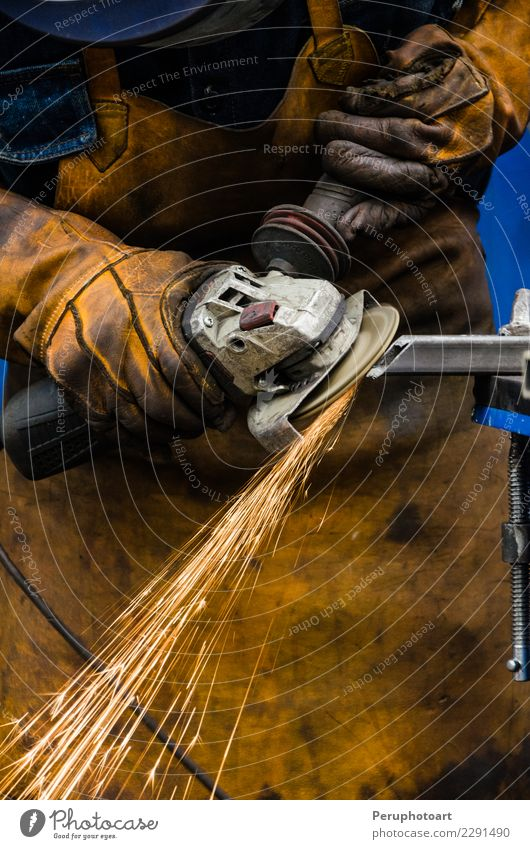 Man cutting iron Work and employment Factory Industry Business Tool Technology Human being Adults Hand Building Metal Steel Make Protection Builder circle