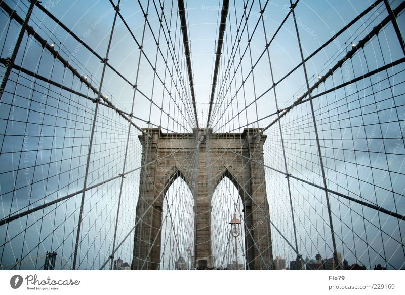 Um eric aaaah! Vacation & Travel Sightseeing City trip Sky Clouds Summer New York City Americas Bridge Manmade structures Building Architecture
