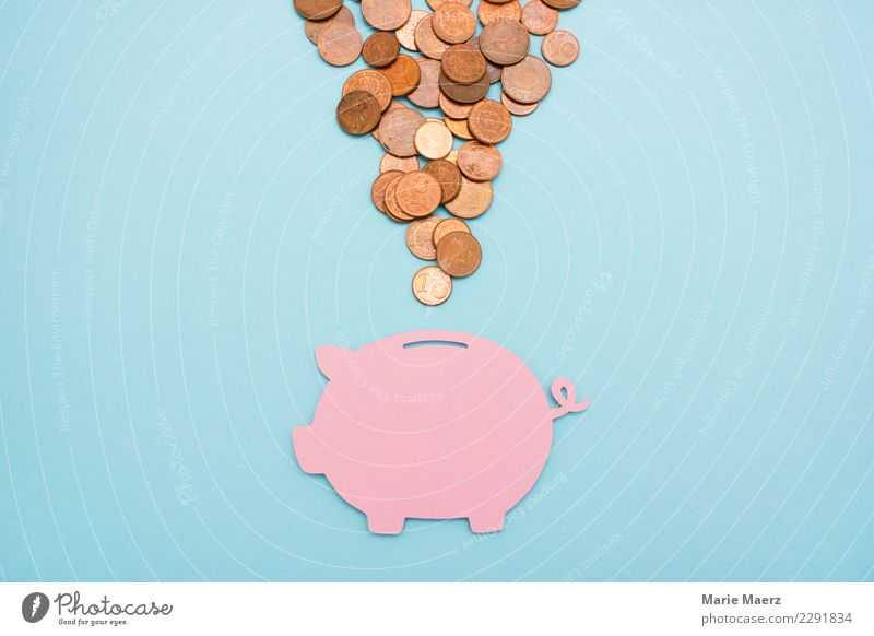 Save it. Pink piggy bank with many cent coins Money Financial Industry Financial institution Coin Simple Free Positive Many Blue Virtuous Safety Thrifty Luxury