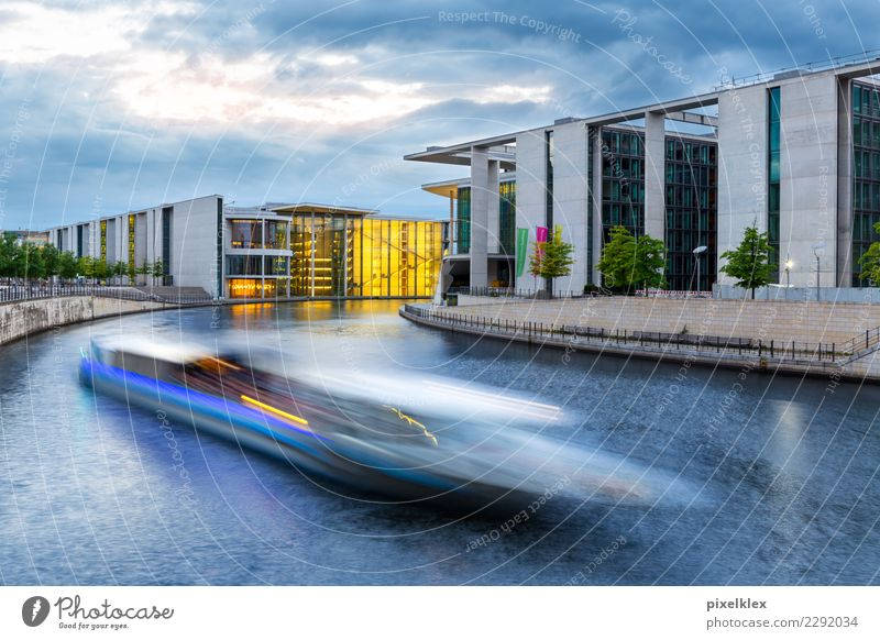 chancellery Office Business Company Career Success Water River bank Spree Spreebogen Berlin Germany Europe Town Capital city House (Residential Structure)