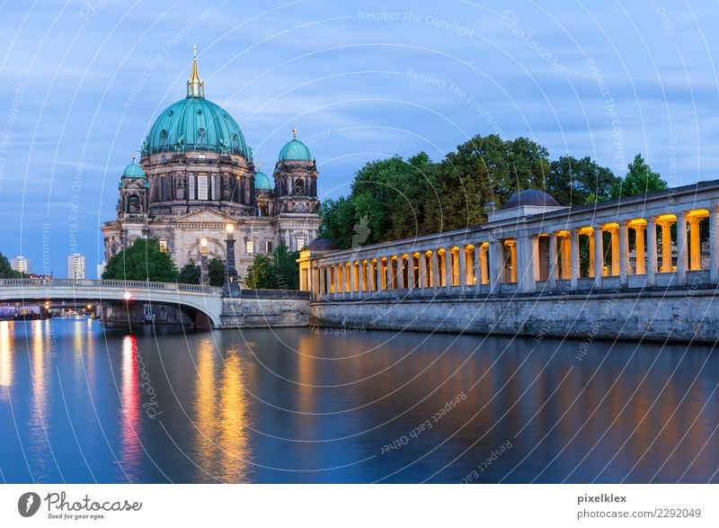Berlin Cathedral Museum Water Island Museum island River Spree Downtown Berlin Germany Town Capital city Old town Church Dome Bridge Manmade structures Building