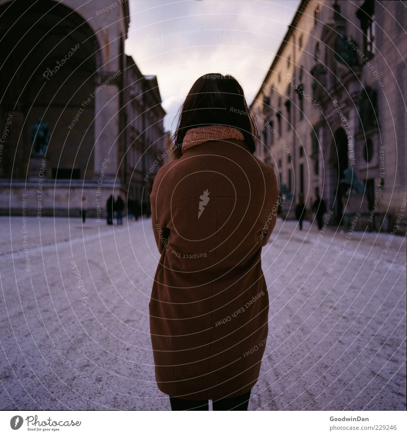 Woman Human being Beautiful City Adults Feminine Cold Emotions Moody Wait Authentic Stand Grief Simple Longing