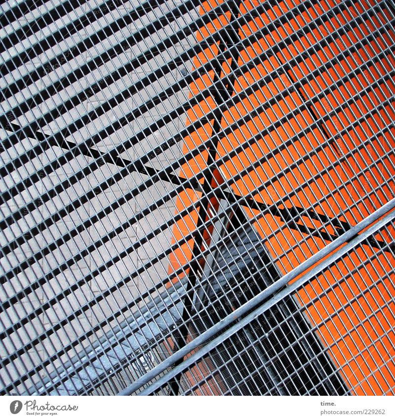 Architecture Metal Orange Fear Facade Esthetic Safety Metalware Threat Level Manmade structures Vantage point Hollow Stress Bizarre