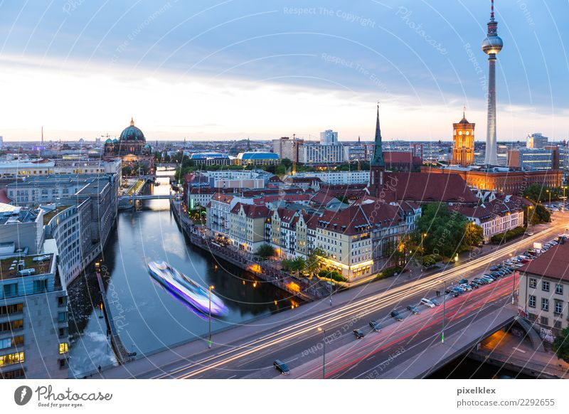 Vacation & Travel Town House (Residential Structure) Architecture Berlin Building Tourism Germany Watercraft High-rise Church Bridge Tower River