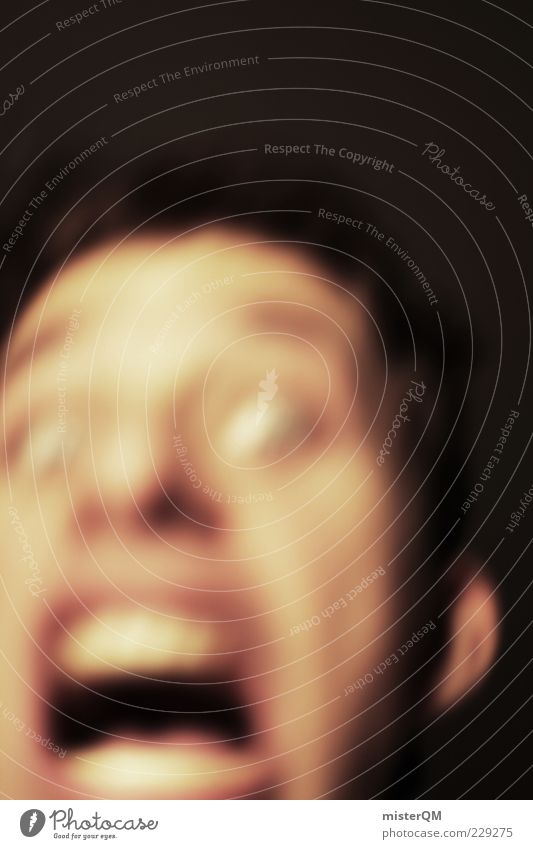 Man Face Fear Esthetic Dangerous Threat Creepy Fear of death Force Scream Risk Evil Escape Intoxication Panic Eerie