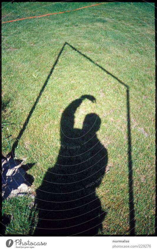 Human being Plant Environment Grass Movement Lawn Shadow play