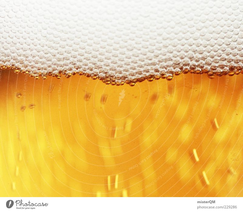 O' taps isch. Alcoholic drinks Beer Froth Fresh Refreshment Yellow-gold Carbonic acid Blow Intoxicant Delicious Colour photo Interior shot Studio shot Close-up