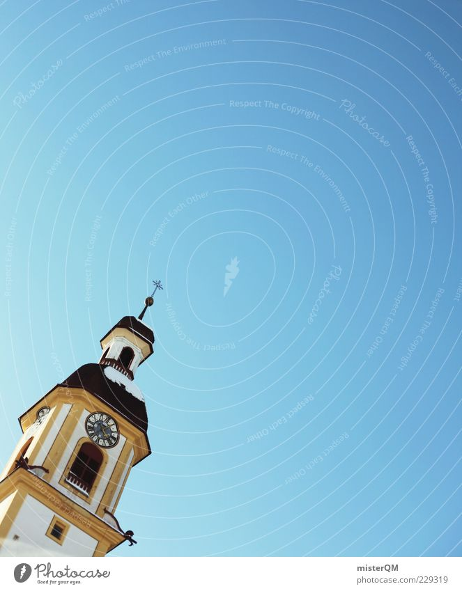 Sky Church Tower Crucifix Cloudless sky Sky blue Church spire Papal state
