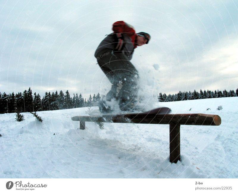 Snow Sports Masculine Handrail Balance Snowboard Freestyle Harz Skid Snowboarding Slide Snowboarder Powder snow