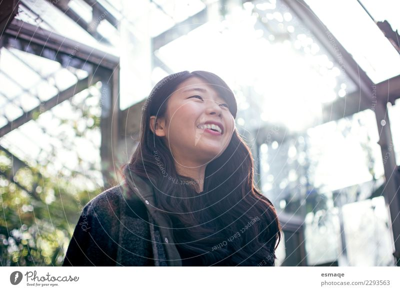 portrait of asian happy woman in nature Human being Nature Vacation & Travel Youth (Young adults) Young woman Plant Beautiful Relaxation Calm Joy Life Lifestyle