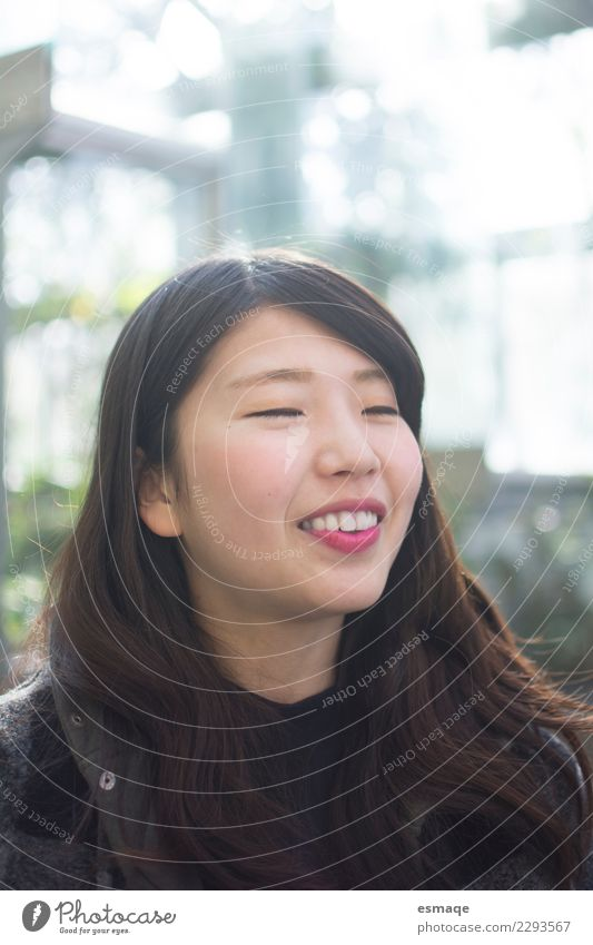 Portrait of asian Young woman smiling Woman Human being Nature Vacation & Travel Youth (Young adults) Beautiful Joy Adults Life Lifestyle Healthy Freedom