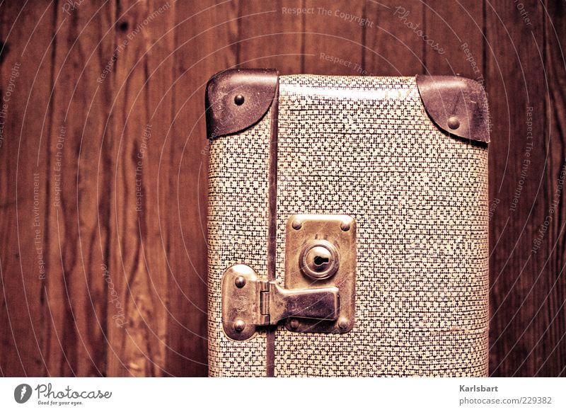 photo. case. Summer Suitcase Packaging Box Wood Beginning Movement Wooden floor Lock Closed Change Colour photo Interior shot Close-up Detail Experimental