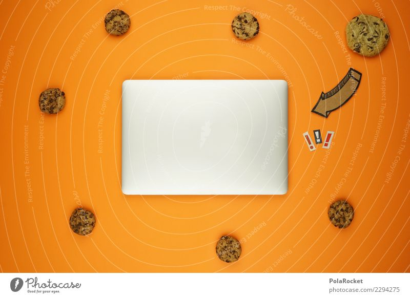 #AS# Cookies Inside ? Computer Fear cookies Notebook Silver Arrow Exclamation mark Concern Esthetic Creativity Virus Attack Aggressive noteb Data protection