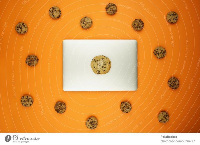 #AS# Privacy Cookies ? Computer Concern Art Esthetic Creativity cookie Virus Attack Aggressive Notebook Data protection error message Orange Many Comic Internet