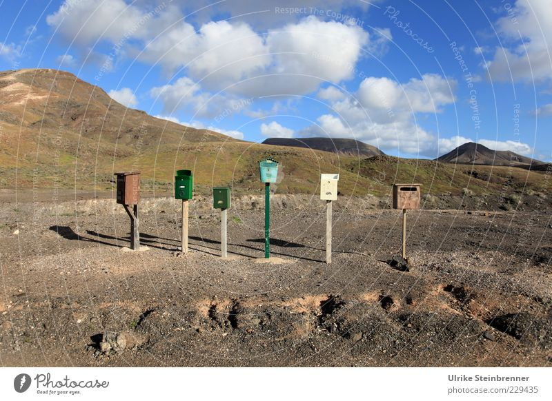 Vacation & Travel Loneliness Mountain Multiple Gloomy Uniqueness Hill Longing Box Row Mail 6 Expectation Mailbox Sparse Fuerteventura