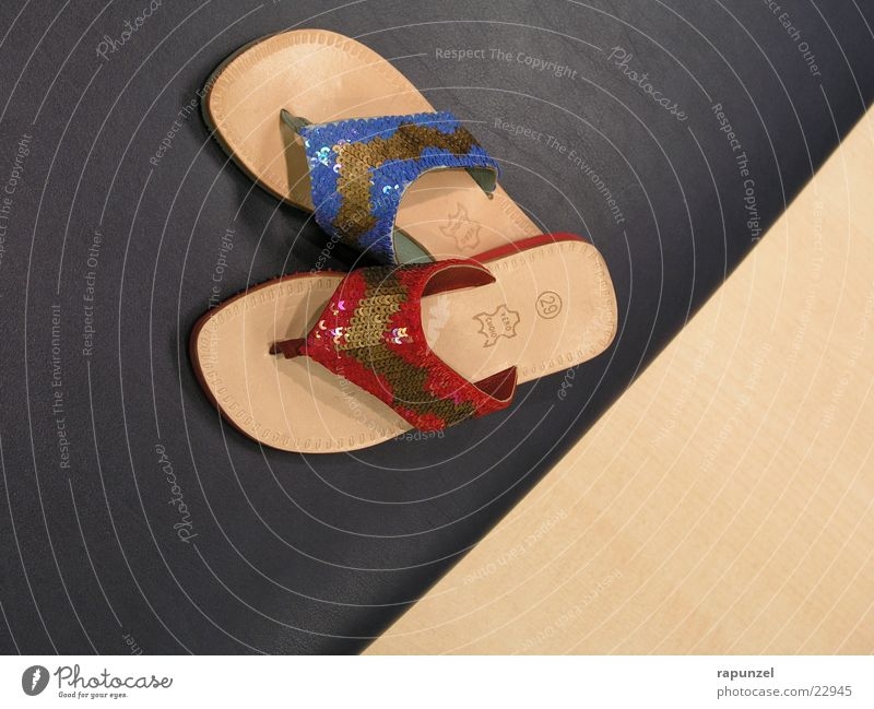 shoes Flip-flops Footwear Summer Red Glamor Feet Blue Fashion