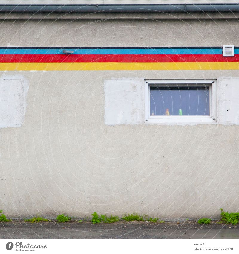 Colours Schulze Drops of water Bad weather Rain Wall (barrier) Wall (building) Facade Line Stripe Old Esthetic Authentic Small Modern Above Multicoloured Serene