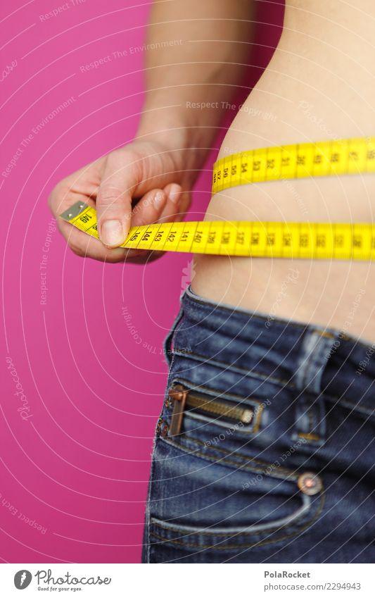#A# Woman made to measure Art Esthetic Fitness Healthy Athletic Fitness centre Fat Lean Tape measure Stomach Hip Diet Decreasing Denim Measure Calorie