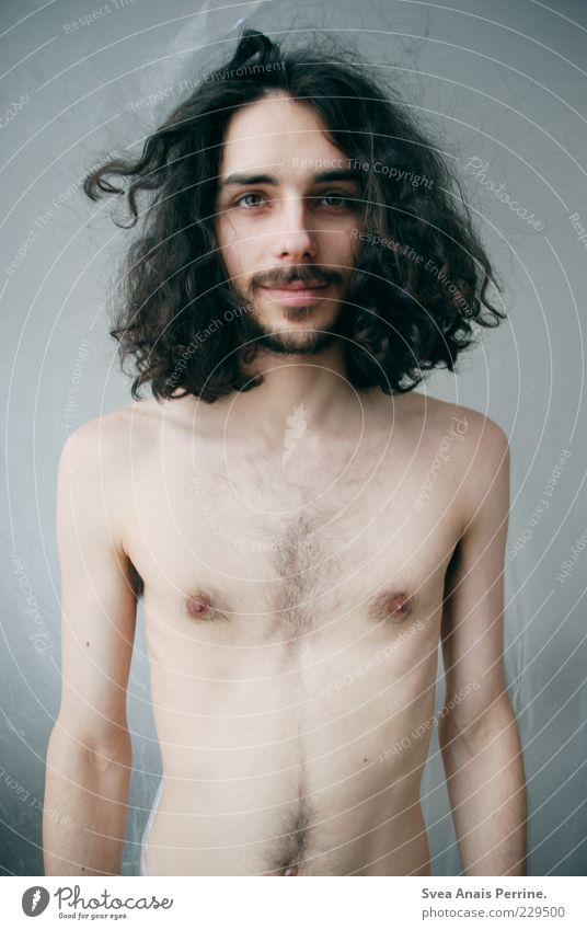 hey girl. Young man Youth (Young adults) Body Skin Chest Stomach 1 Human being 18 - 30 years Adults Hair and hairstyles Black-haired Long-haired Curl Stand Thin