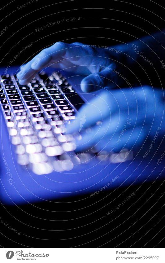 #AS# Glowing Work Art Esthetic Keyboard Keyboard shortcut Hacker Chop Digital Internet Work and employment Hand Fingers Typing Online Online store Notebook