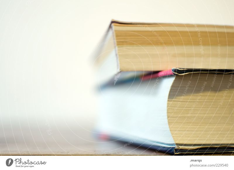 page by page Leisure and hobbies Education Print media Book Colour photo Close-up Copy Space left Shallow depth of field Consecutively 2 Deserted Fat