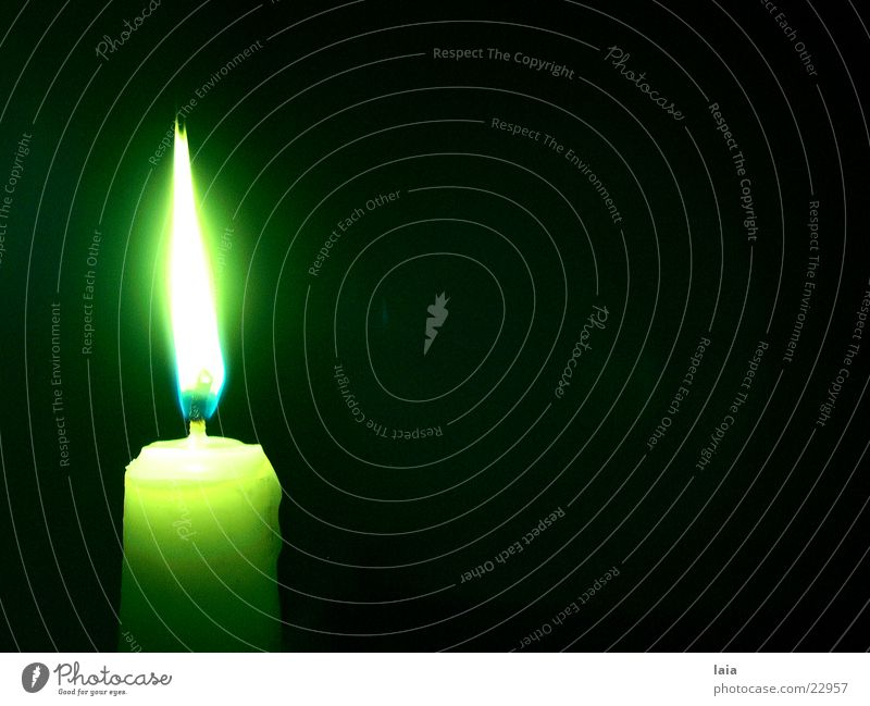 light a candle for Candle Light Night Green Yellow Things Flame