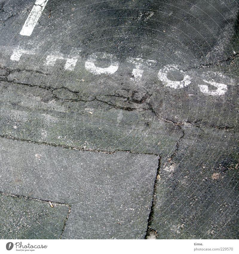 passion Concrete Stripe Broken Gray Apocalyptic sentiment Uniqueness Photography Image Asphalt Letters (alphabet) Parking lot Ground Floor covering Clue