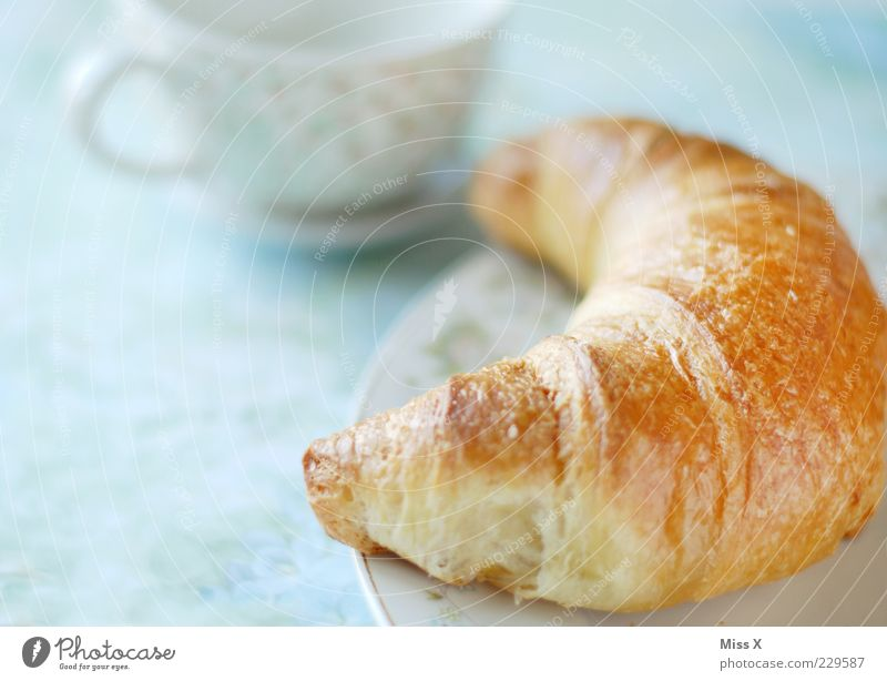 Croissant without pineapple jam Food Dough Baked goods Nutrition Breakfast Plate Cup Delicious Sweet Soft Breakfast table Table Snack Meal Bright Colour photo