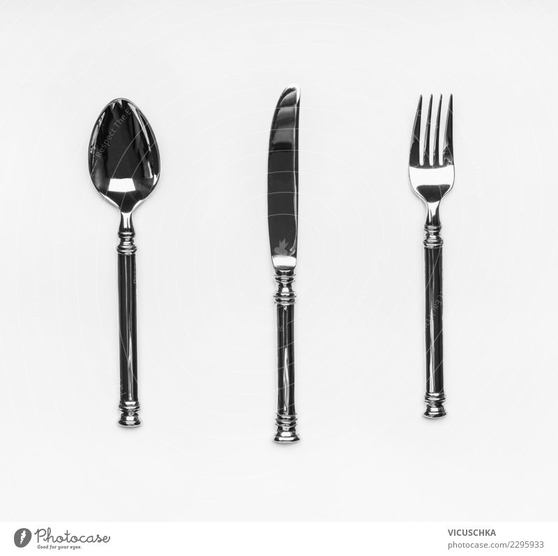 cutlery Nutrition Banquet Cutlery Knives Fork Spoon Style Design Party Event Restaurant Things Symbols and metaphors Bright background Collection Colour photo