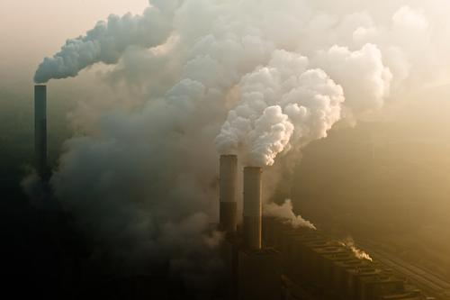 mess Environment Nature Landscape Air Sky Clouds Climate Climate change Weather Bad weather Industrial plant Threat Sustainability Power coal power plant