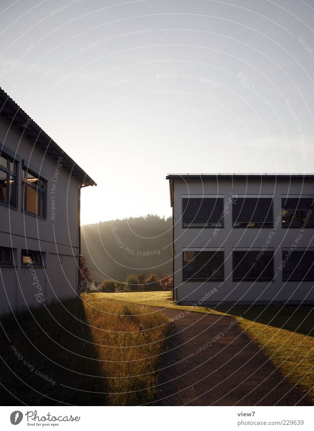 sunrise Environment Nature Sun Sunrise Sunset Sunlight Climate Beautiful weather House (Residential Structure) Architecture Wall (barrier) Wall (building)