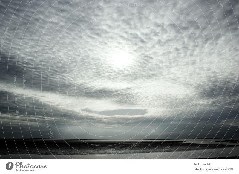 Sky Nature Water Blue Ocean Beach Clouds Far-off places Dark Environment Landscape Coast Weather Horizon North Sea Fantastic