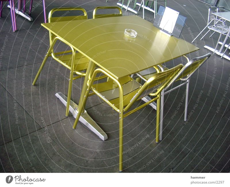 table Table Chair Yellow Things