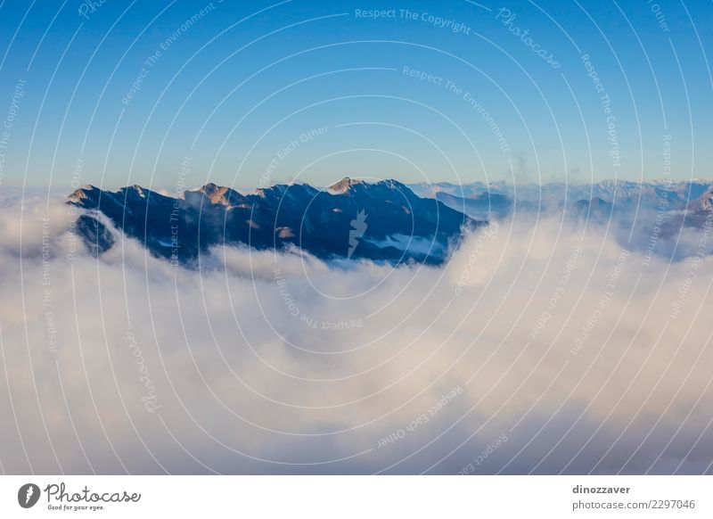 The sea of clouds, Alps, Italy Joy Vacation & Travel Adventure Mountain Hiking Sports Climbing Mountaineering Rope Nature Landscape Clouds Rock Lanes & trails