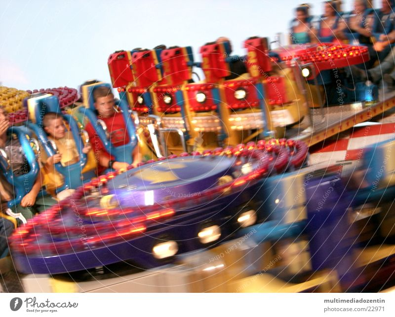 Joy Movement Happy Funny Transport Speed Circle Leisure and hobbies Fairs & Carnivals Rotate Swing Rotation Fair Vertigo Funster