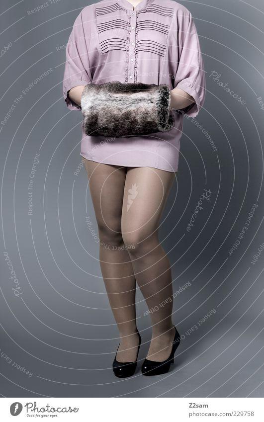 Beautiful Feminine Warmth Style Legs Fashion Pink Elegant Design Modern Esthetic Stand Lifestyle Clothing Retro Posture