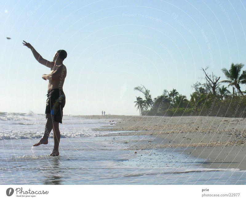 Man Sun Ocean Beach Vacation & Travel Sand Throw