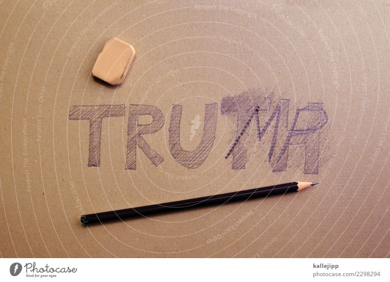 wacko Characters Write twitter Trump Tower donald trump USA President Truth Lie (Untruth) False Correct Pencil Eraser satire Humor Joke Crazy Politics and state