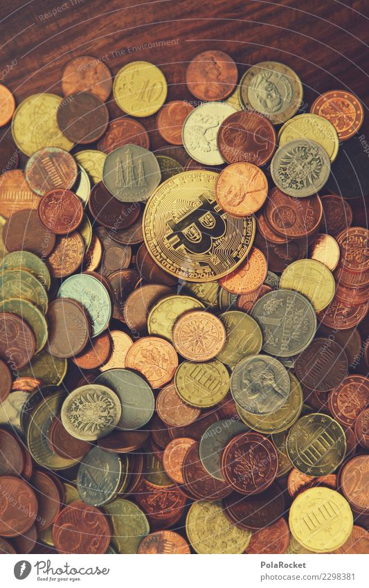 #A# Coin collection Art Work of art Esthetic Cryptocurrency Money Financial institution Donation Monetary capital Financial backer Financial transaction Many