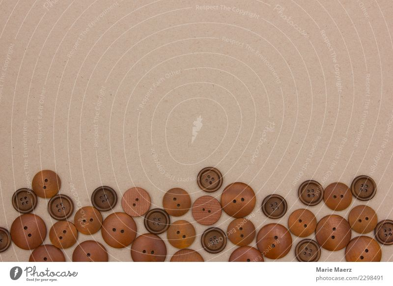 Old Calm Wood Fashion Brown Together Leisure and hobbies Esthetic Round Collection Make Nostalgia Buttons Handcrafts Patient Quality