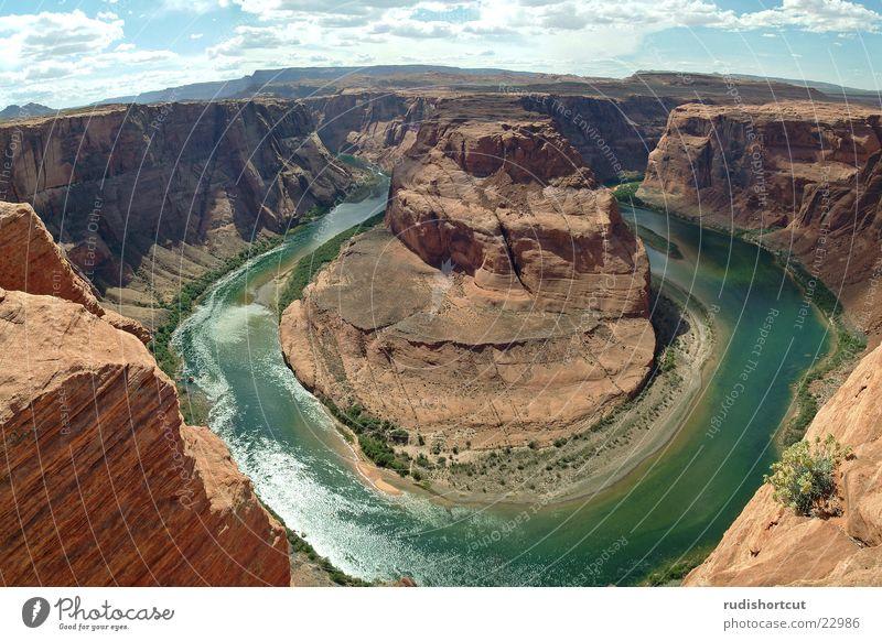 Horse Shoe Bend Colorado Page Arizona Canyon Wide angle Montage Landscape USA