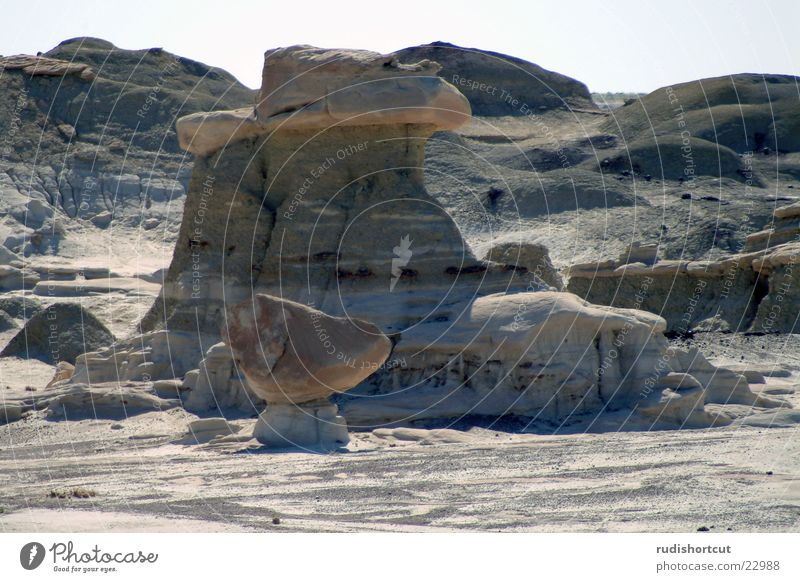 Stone Footwear Rock USA Desert Minerals Rock formation Farmington New Mexico The Bisti Badlands