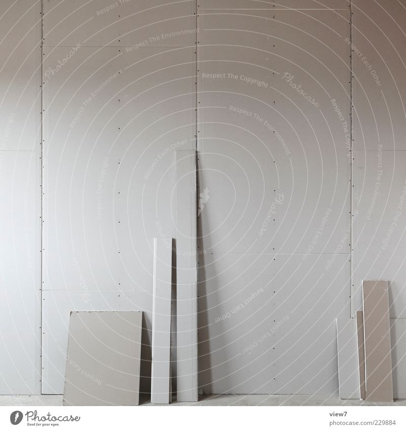White Cold Wall (building) Gray Wall (barrier) Line Facade Beginning Modern Authentic Good Construction site Stripe Simple End Profession
