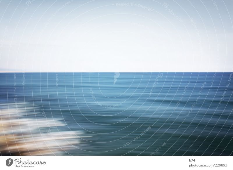 Sky Nature Water Blue Ocean Calm Far-off places Environment Landscape Movement Coast Air Waves Horizon Free Fresh