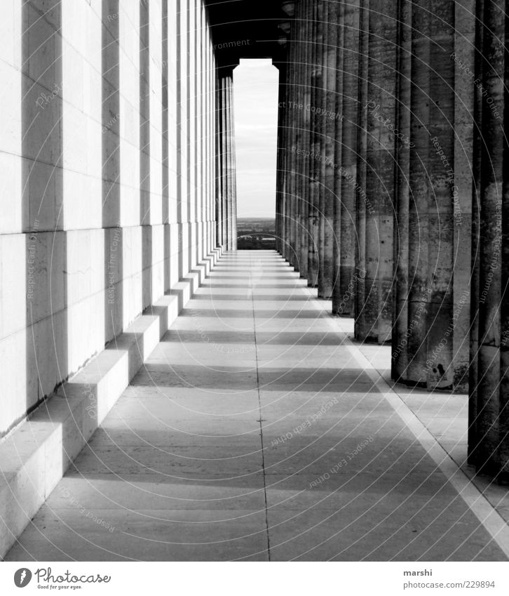 the pillars of the earth Manmade structures Building Architecture Wall (barrier) Wall (building) Facade Tourist Attraction Landmark Monument Old Column Corridor