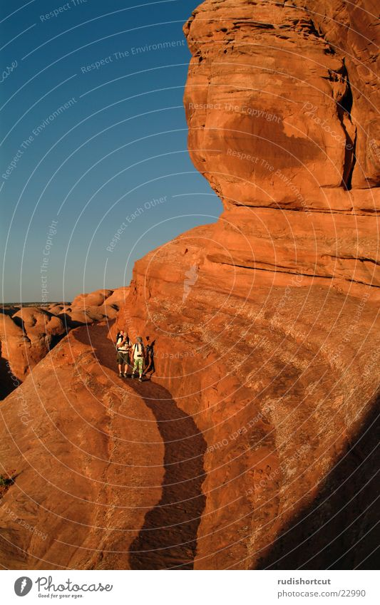 Rock Tourism USA Landmark Tourist Dusk Tourist Attraction National Park Monumental Natural phenomenon Utah Destination Inspection Wall of rock
