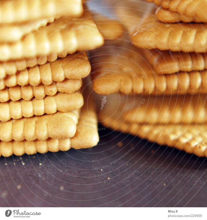 Nutrition Food Sweet Candy Delicious Stack Baked goods Sharp-edged Cookie Crumbs Close-up Depth of field Food photograph Butter cookie
