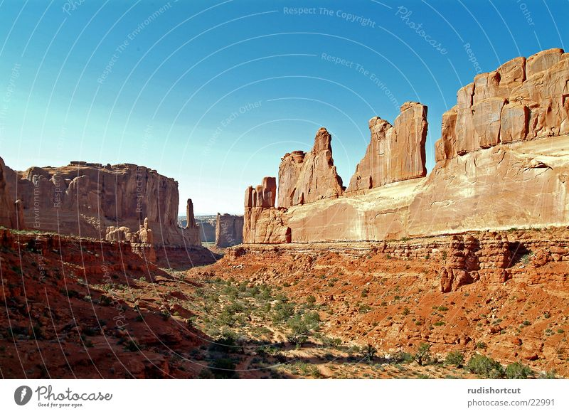Park Avenue Utah Arches National Park Wide angle Mountain Rock Landscape Vacation & Travel USA