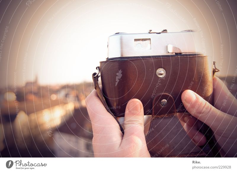 View - outlook - farsightedness. Far-off places Summer Camera Hand Photography Roof Looking Old Free Infinity Historic Uniqueness Retro Wanderlust Discover