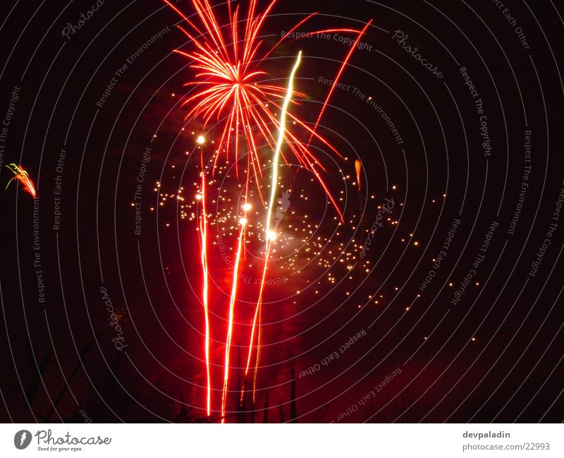 splendour of fireworks New Year's Eve Long exposure Night Light Firecracker Feasts & Celebrations Reaction